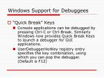 windows support for debuggees12