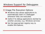 windows support for debuggees13