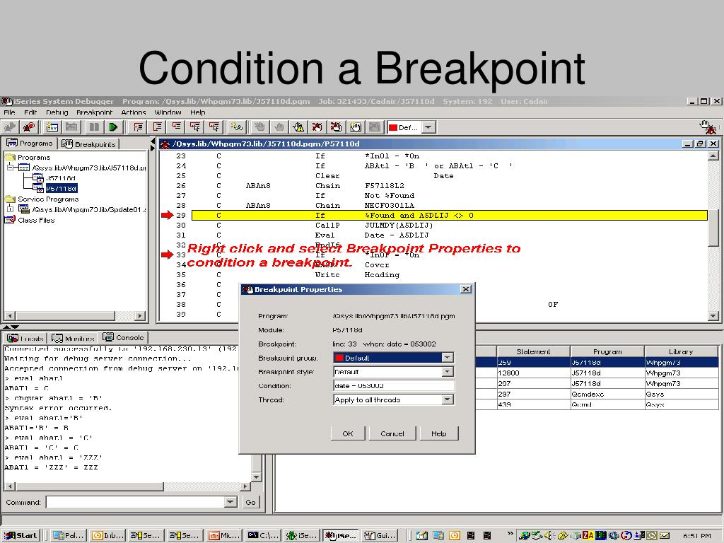 Condition a Breakpoint