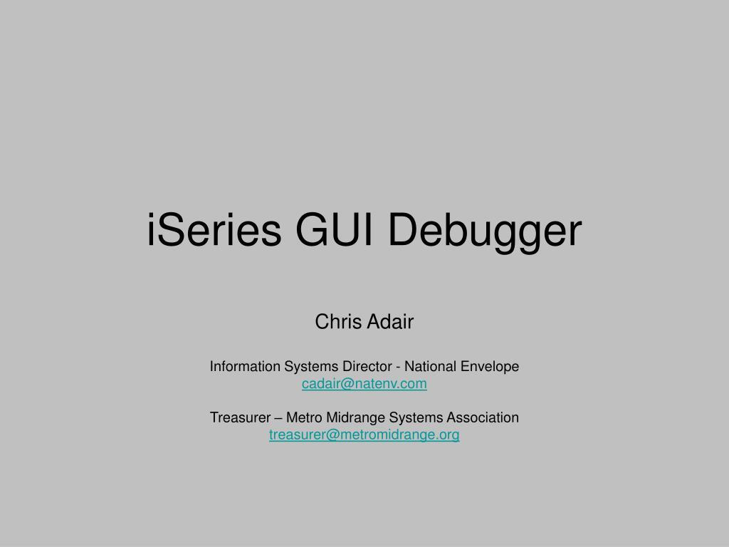 iSeries GUI Debugger