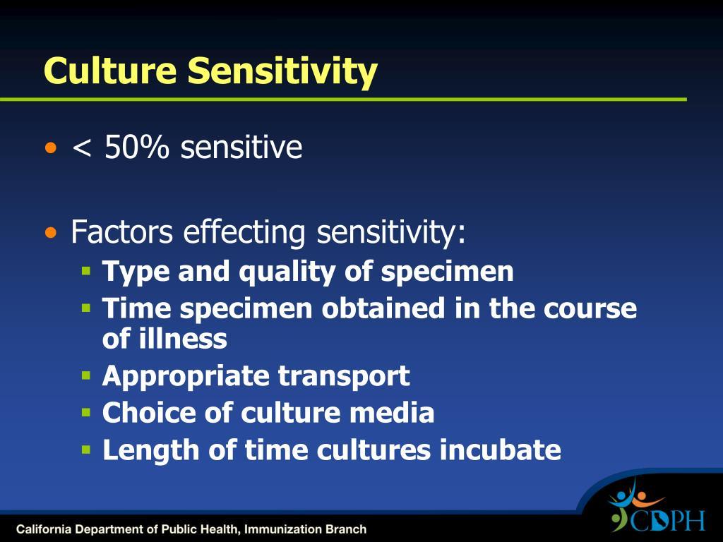 Culture Sensitivity