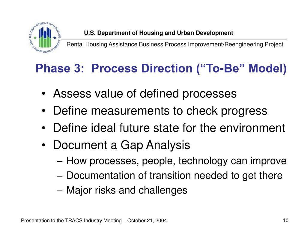 """Phase 3:  Process Direction (""""To-Be"""" Model)"""