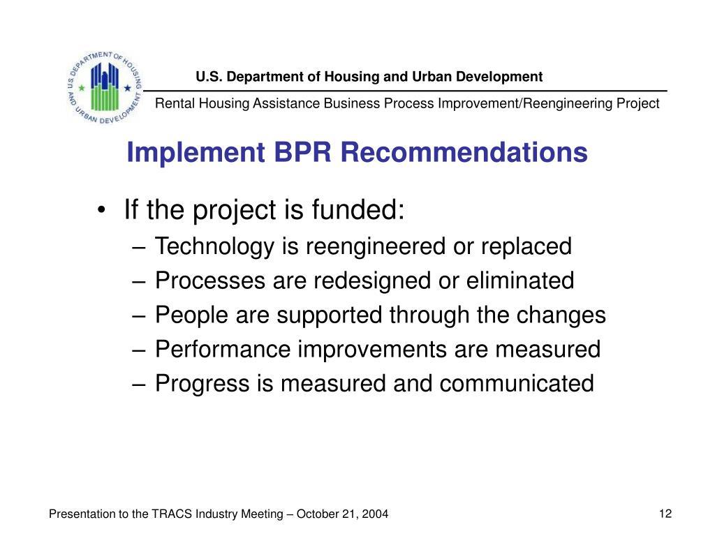 Implement BPR Recommendations
