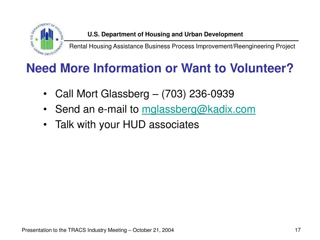 Need More Information or Want to Volunteer?