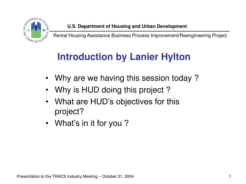 Introduction by Lanier Hylton
