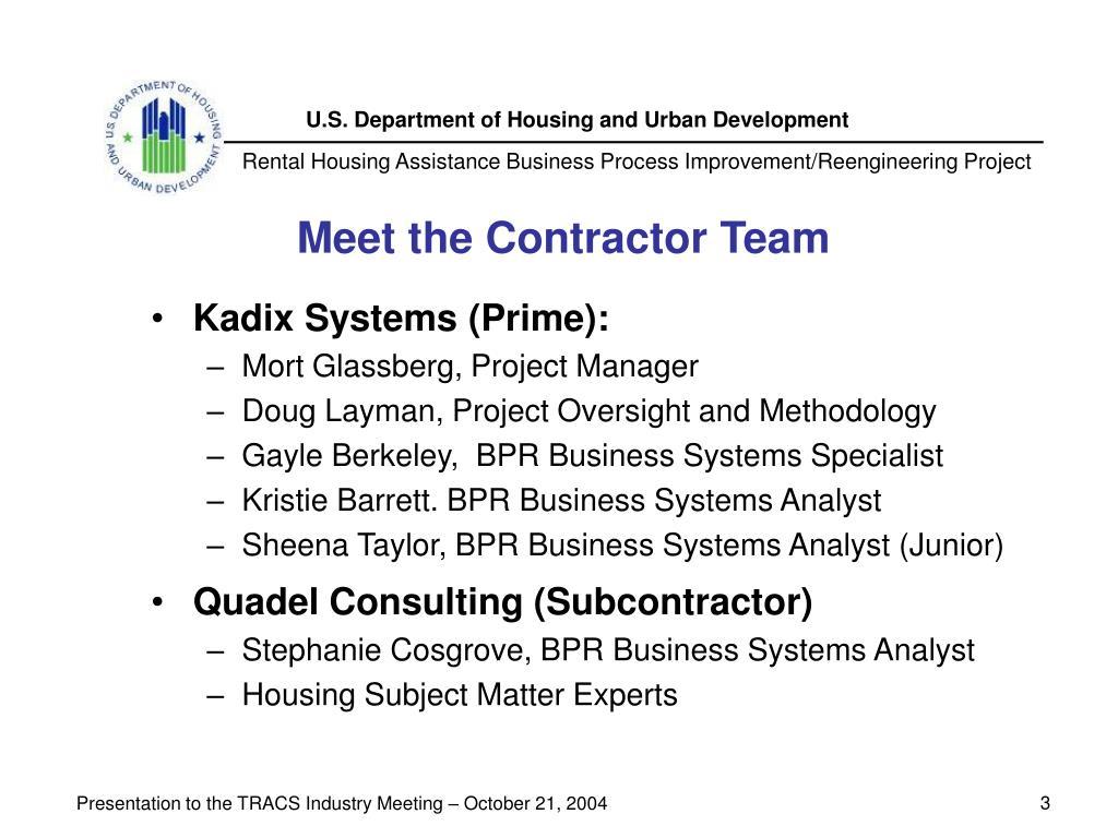 Meet the Contractor Team