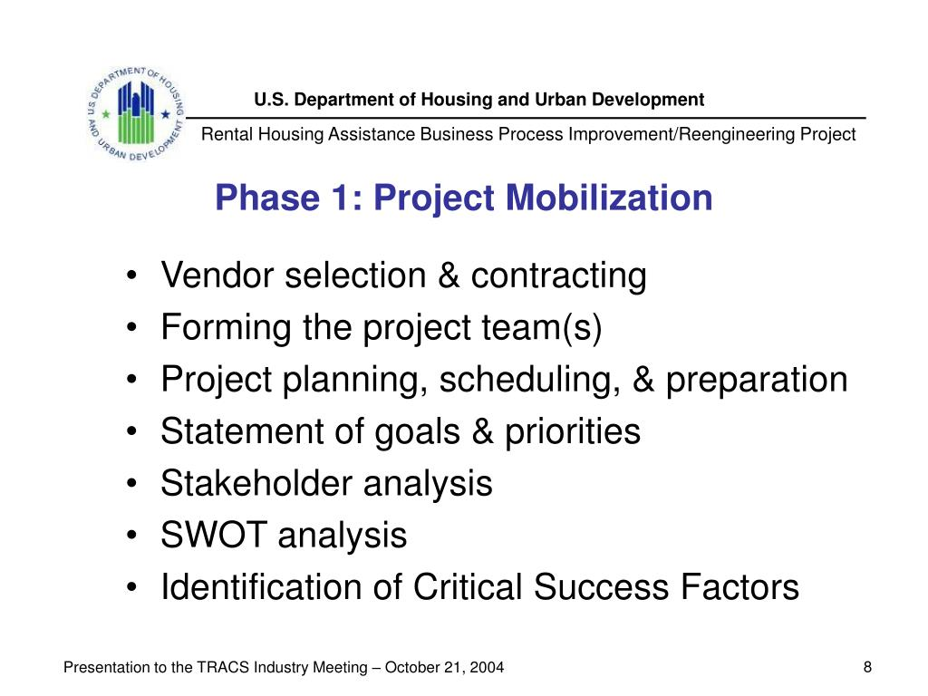 Phase 1: Project Mobilization