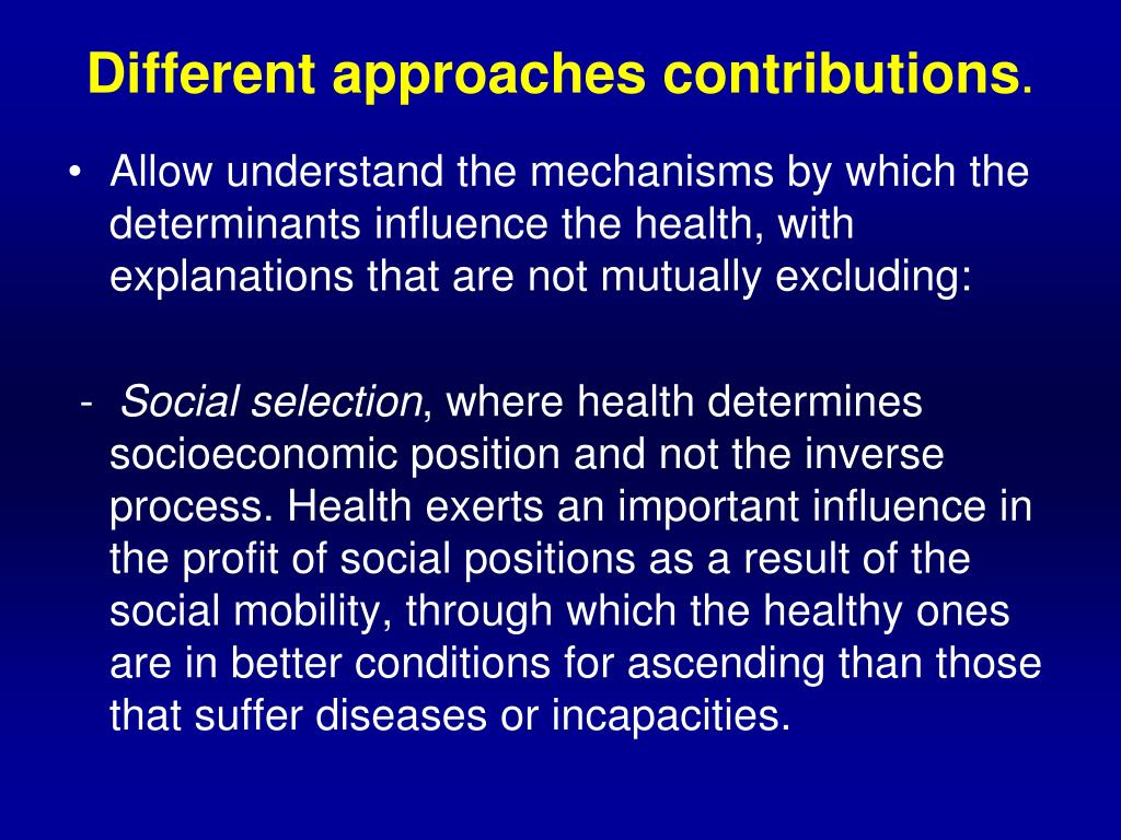 Different approaches contributions