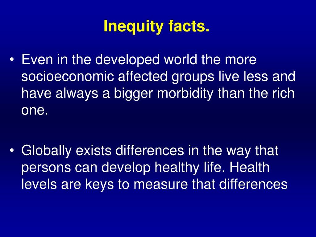 Inequity facts.