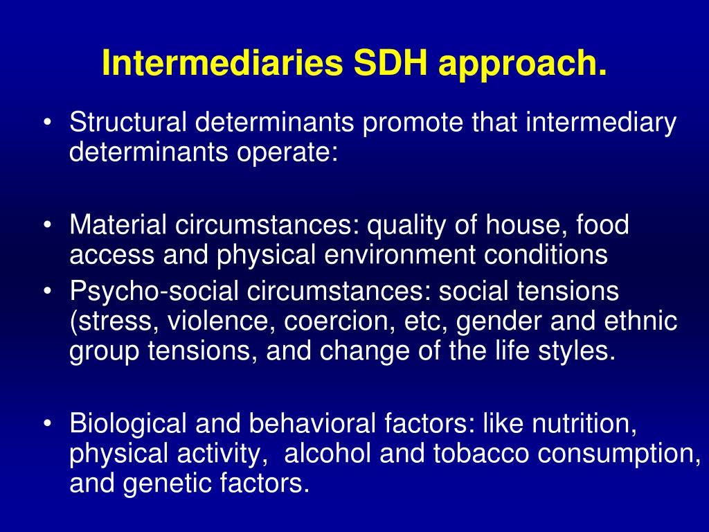 Intermediaries SDH approach