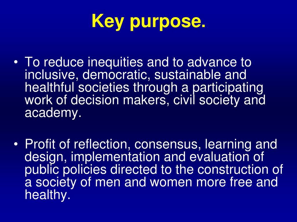 Key purpose