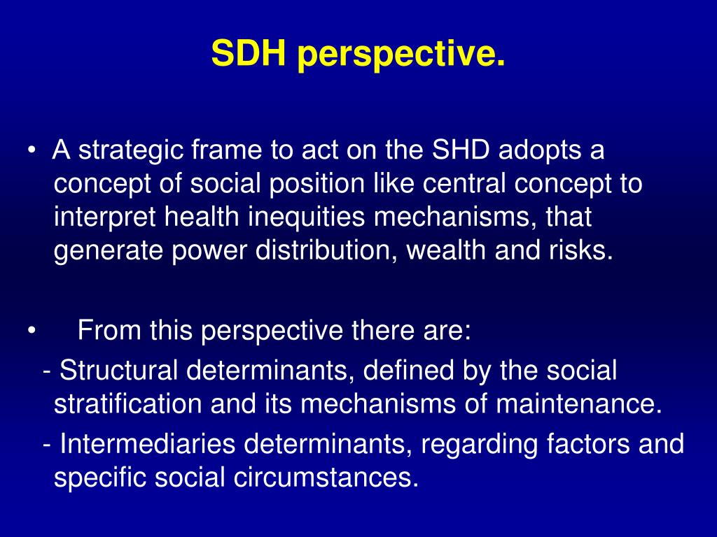 SDH perspective.