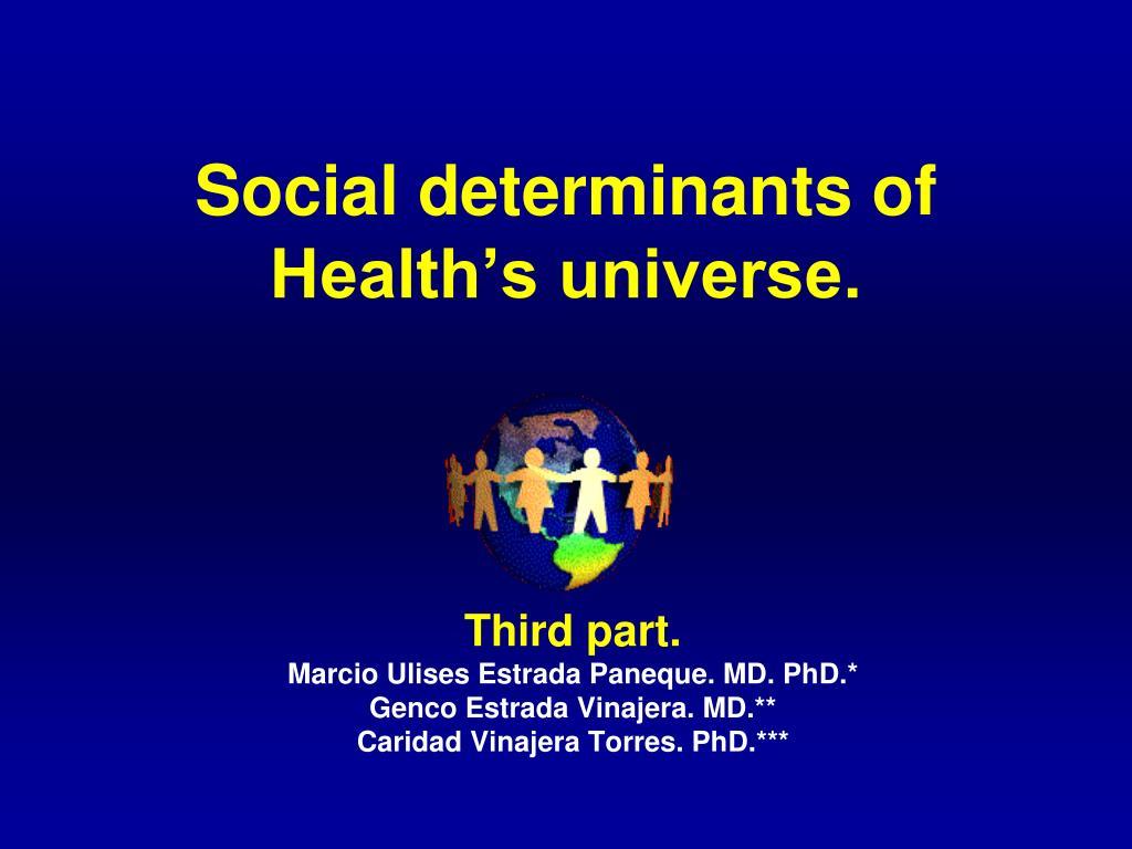 Social determinants of Health's universe.