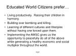 educated world citizens prefer