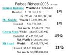 forbes richest 2006 9 th 12th
