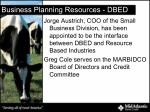 business planning resources dbed