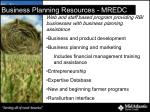 business planning resources mredc