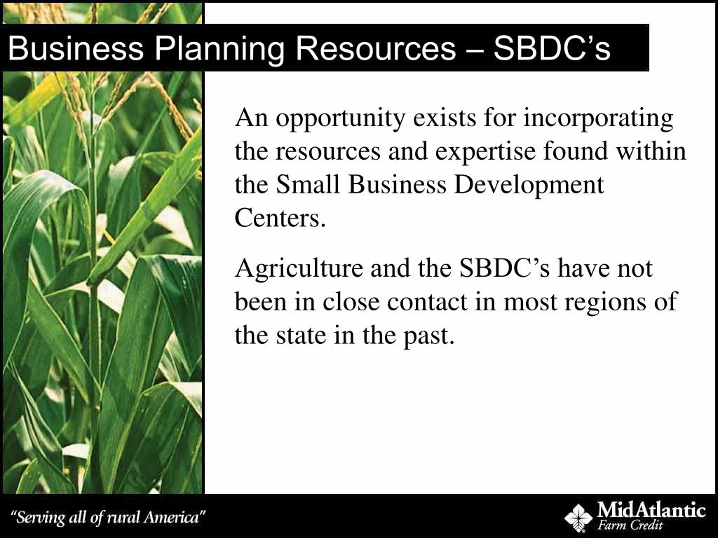 Business Planning Resources – SBDC's