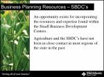 business planning resources sbdc s