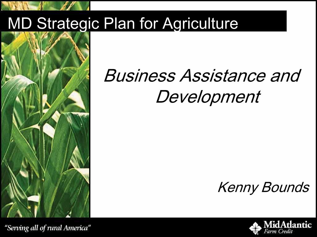 md strategic plan for agriculture l.