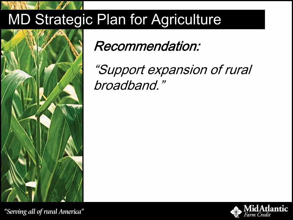 MD Strategic Plan for Agriculture