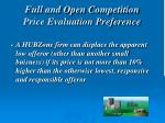 full and open competition price evaluation preference