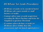 hubzone set aside procedures