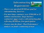 subcontracting requirements