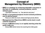 concept of management by discovery mbd