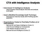 cta with intelligence analysts