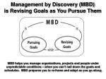 management by discovery mbd is revising goals as you pursue them