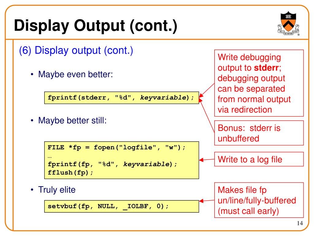Display Output (cont.)