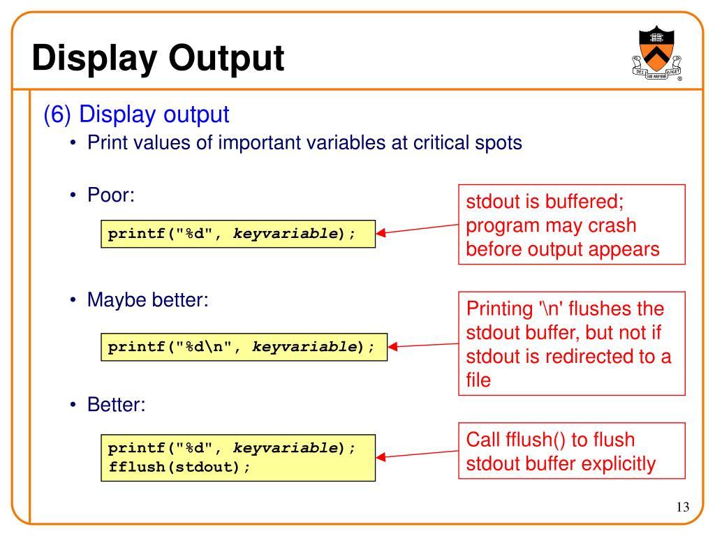 Display Output