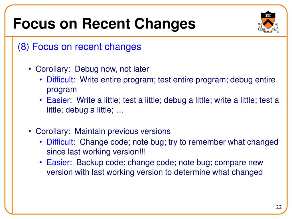 Focus on Recent Changes