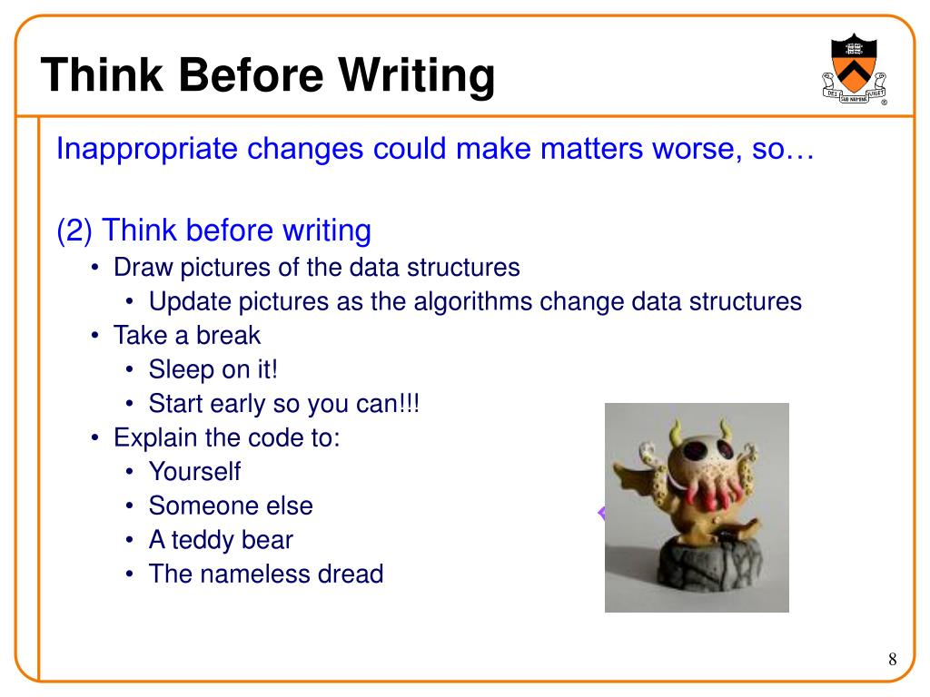 Think Before Writing