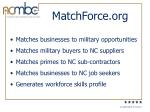 matchforce org