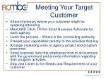 meeting your target customer