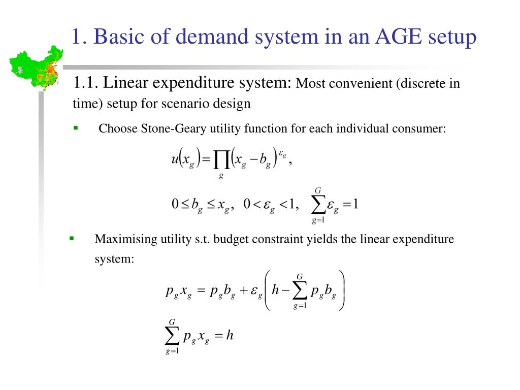 1. Basic of demand system in an AGE setup