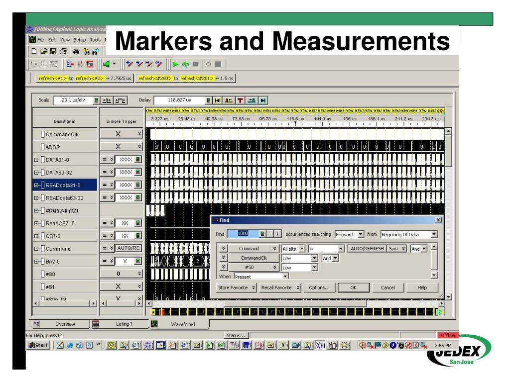 Markers and Measurements