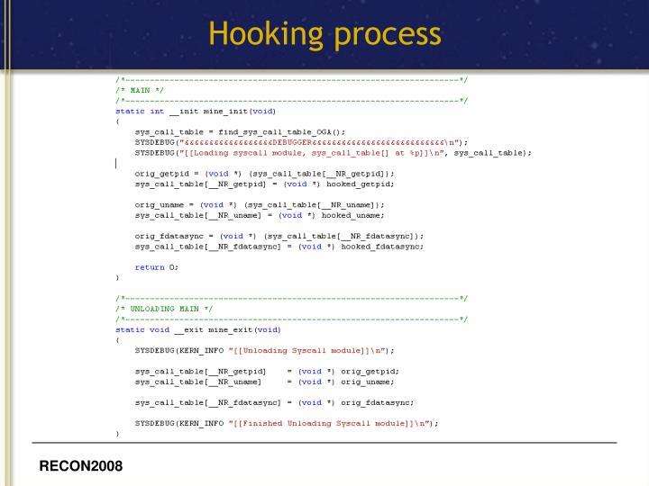 Hooking process