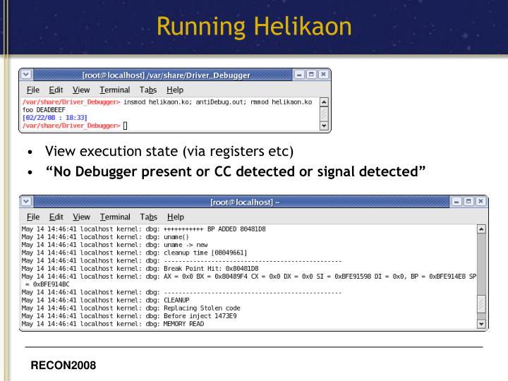Running Helikaon