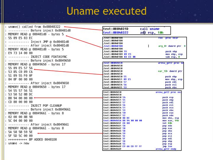 Uname executed