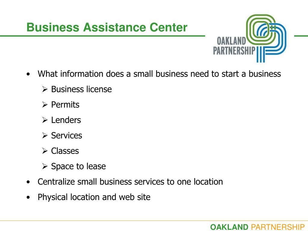 business assistance center l.
