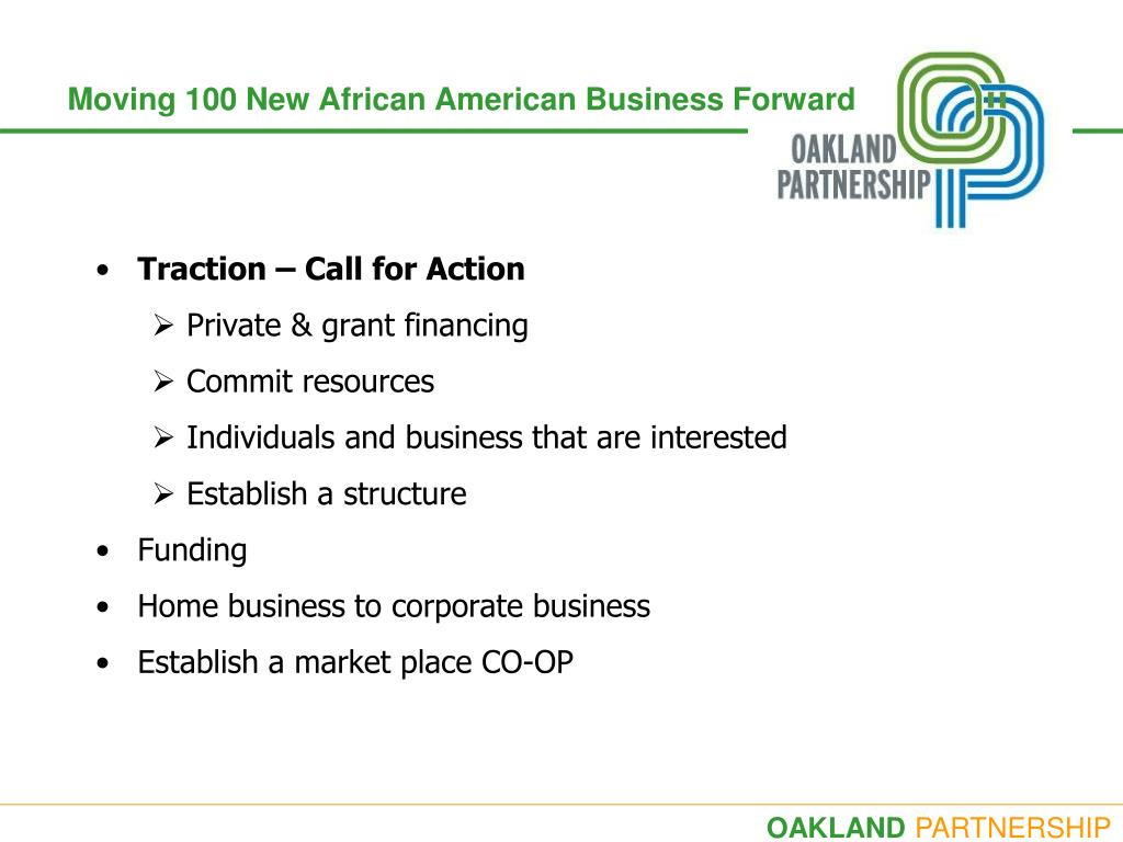 Moving 100 New African American Business Forward
