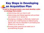 key steps in developing an acquisition plan