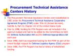 procurement technical assistance centers history