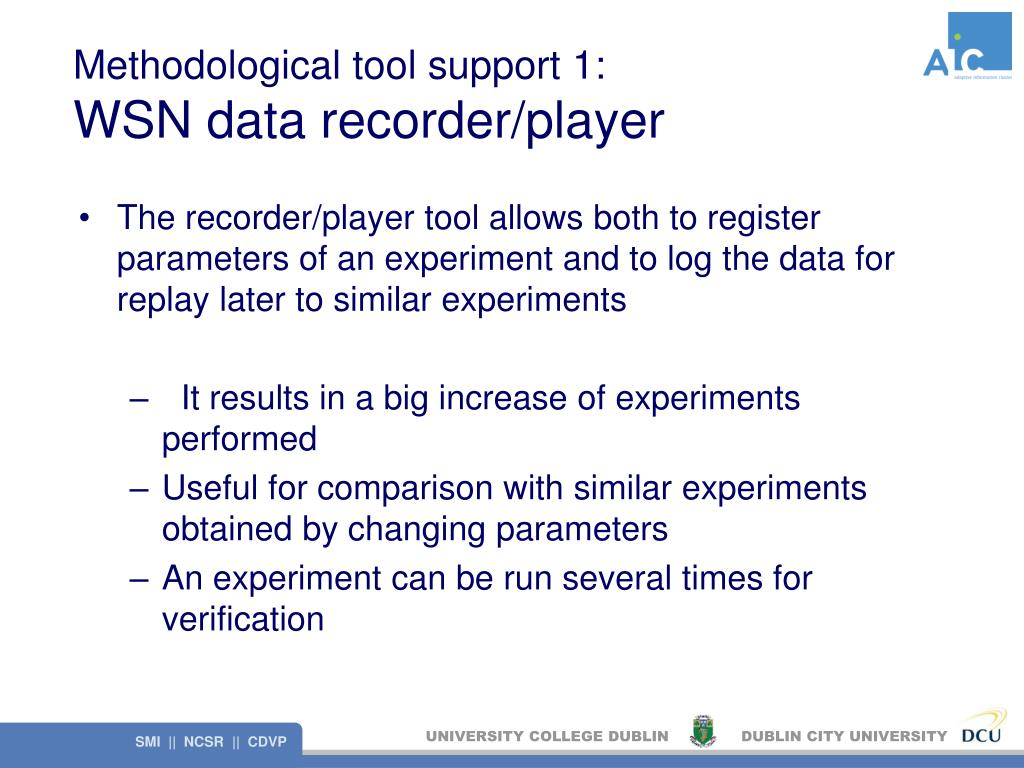 Methodological tool support 1: