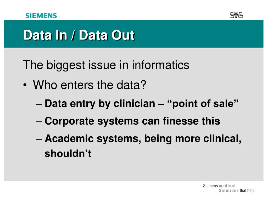 Data In / Data Out