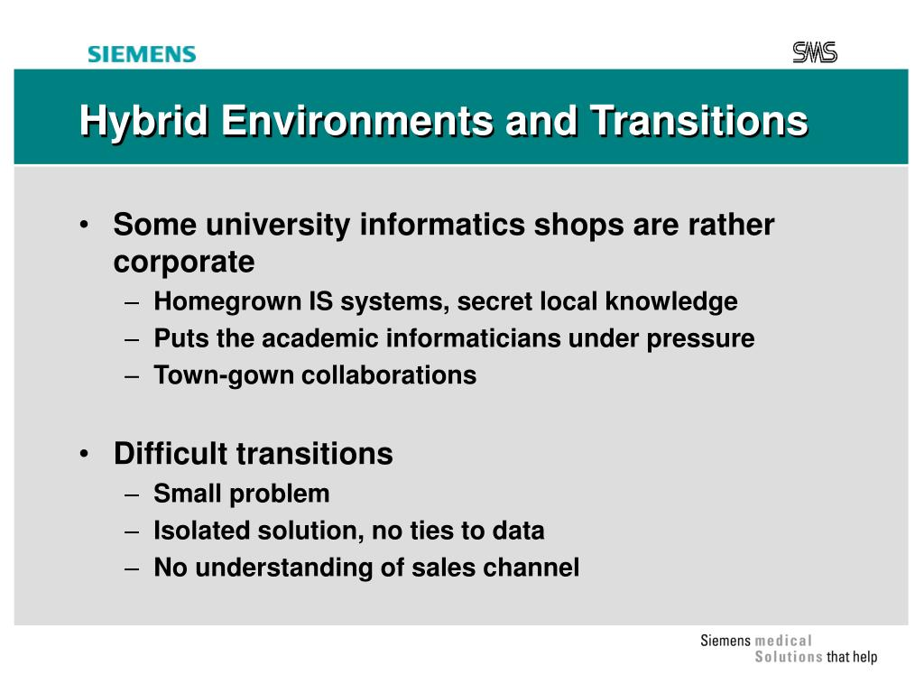 Hybrid Environments and Transitions