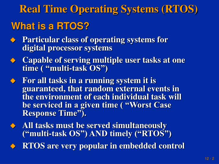 rtos real time operating system thesis Rtos evolution and hardware microkernel implementation benefits of real time operating system field of real time systems means to create complex.